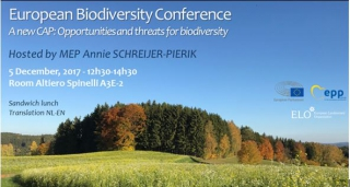 "EU Biodiversity Conference 2017 - ""CAP Reform: Opportunities and Threats for Biodiversity"""