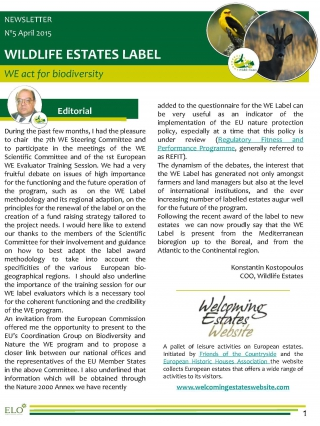 Wildlife Estates Newsletter Nr5