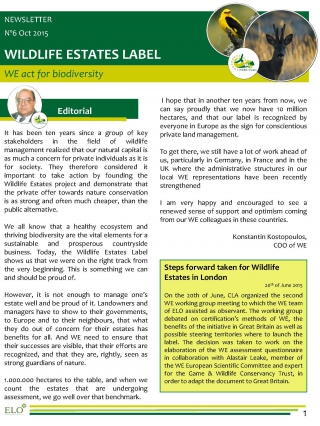Wildlife Estates Newsletter Nr6