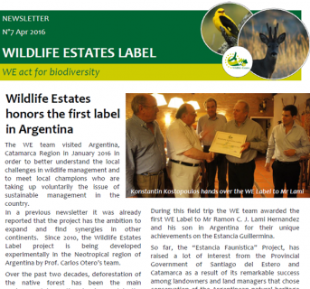 Wildlife Estates Newsletter Nr7