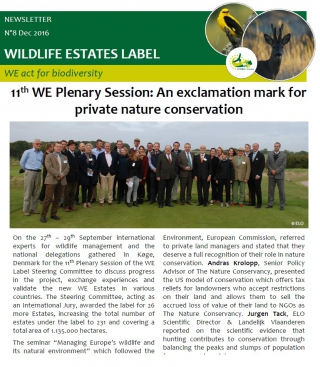 Wildlife Estates Newsletter Nr8